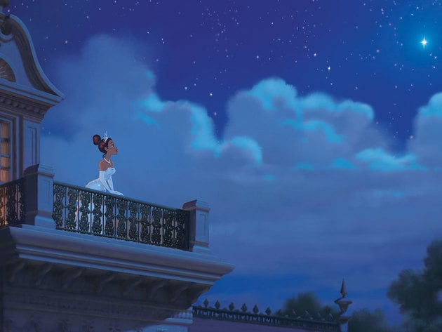 Tiana believes in hard work, but wishing upon a star can only help.