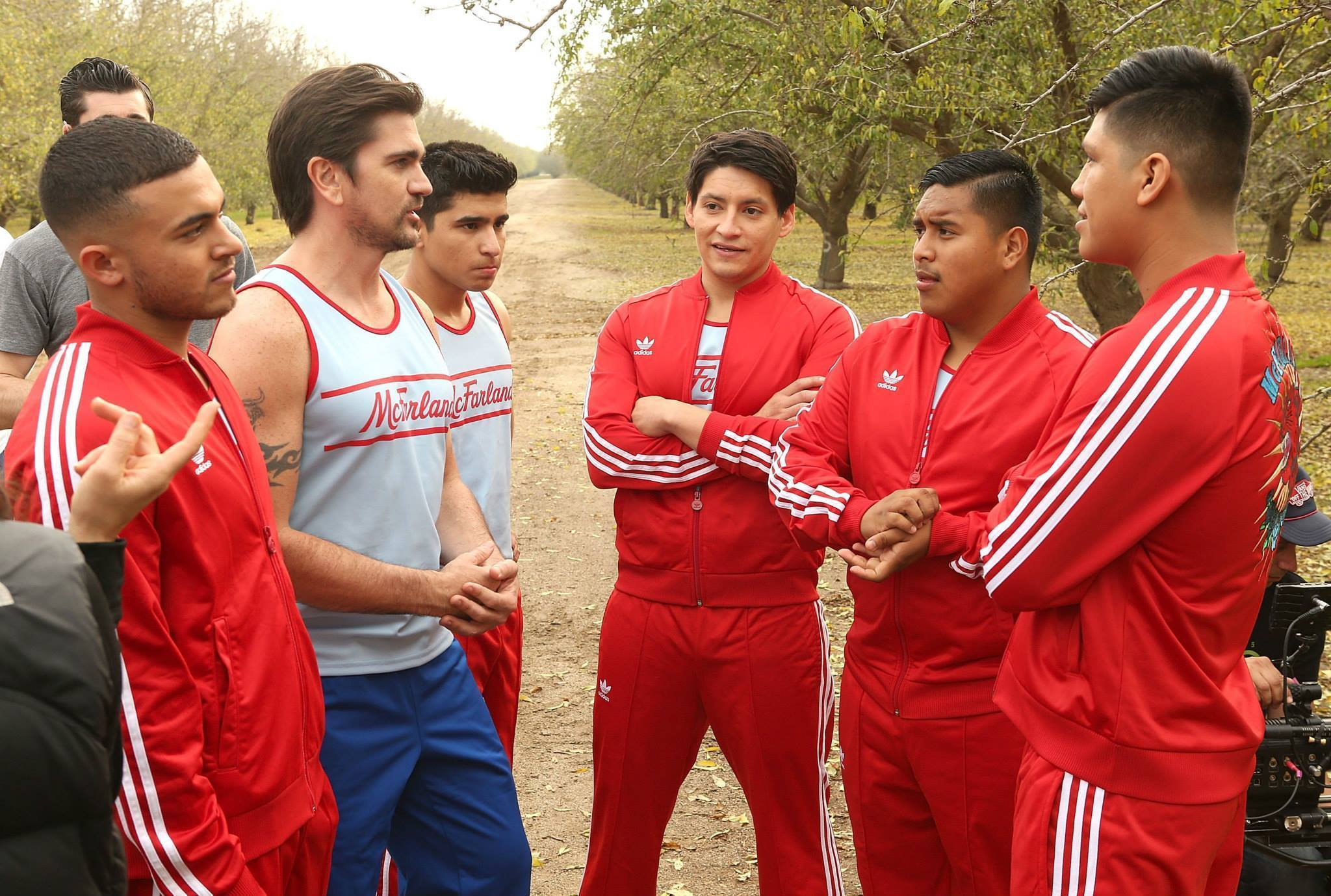 """Juanes and cast members in """"McFarland, USA"""""""