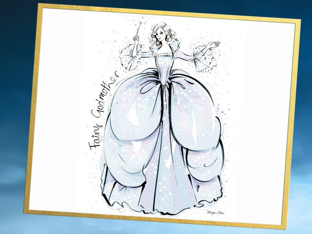 There is nothing a little magic can't fix. Check out this original costume illustration by the ta...