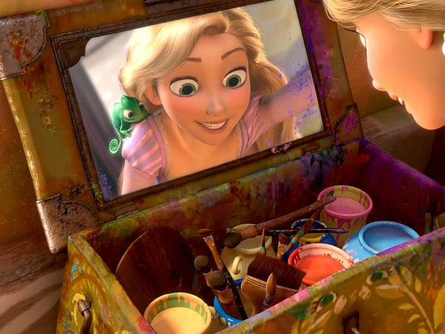 Rapunzel's positive attitude adds colour to everything she touches.