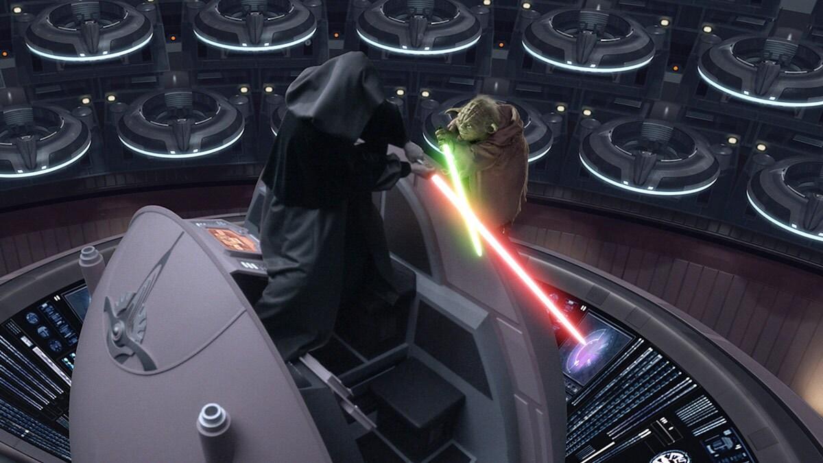 Yoda en duel avec Sidious
