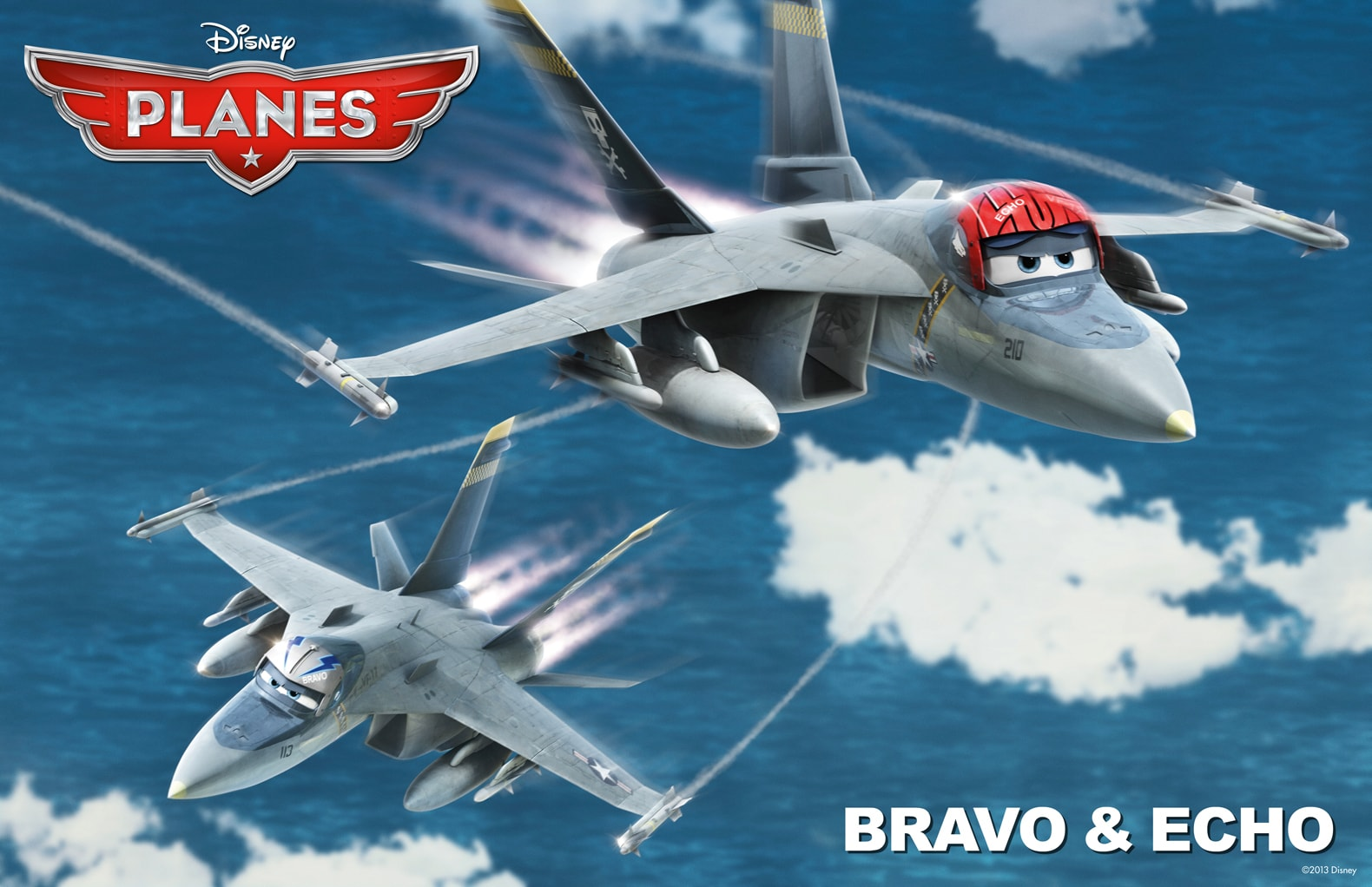 """Bravo and Echo are two of the Jolly Wrenches' top troops from the movie """"Planes"""""""