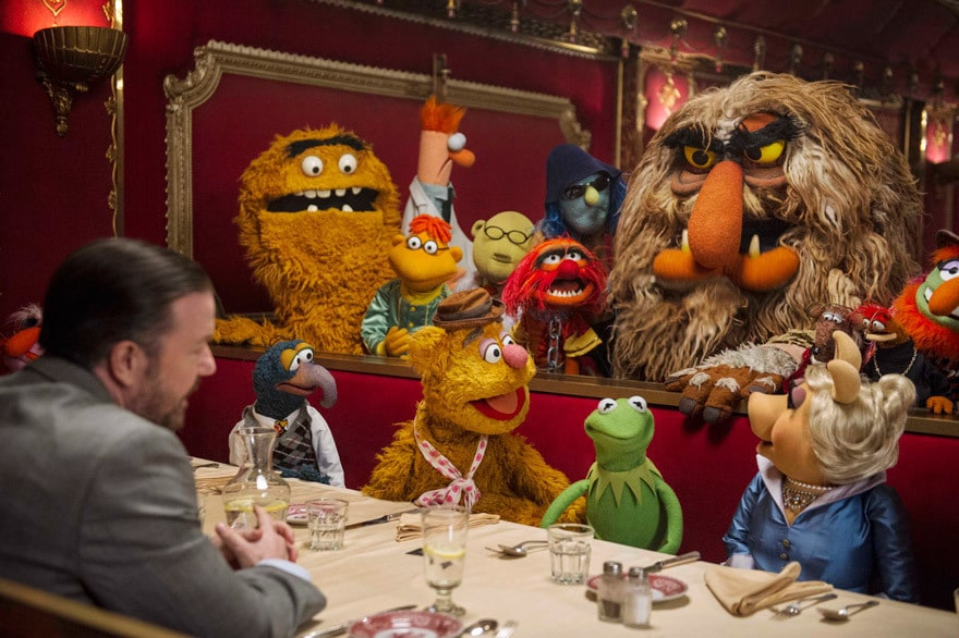 The Muppets sit down and meet with Dominic.