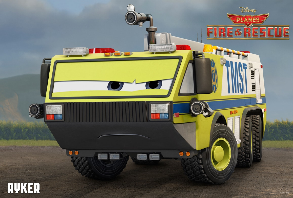Meet the new characters from fire rescue disney movies ryker voice of kevin richardson a 17 year veteran of the transportation voltagebd Choice Image