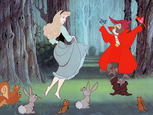 Briar Rose's imagination tells her that when you hear music, you should dance.