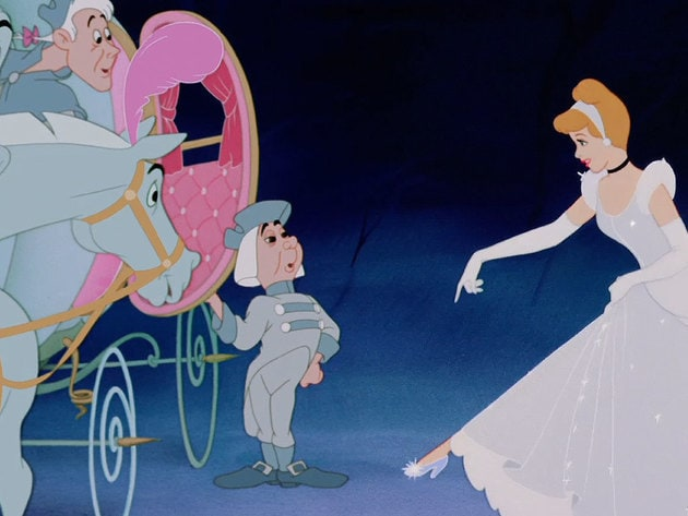 Cinderella's glass slippers are her good luck charm.