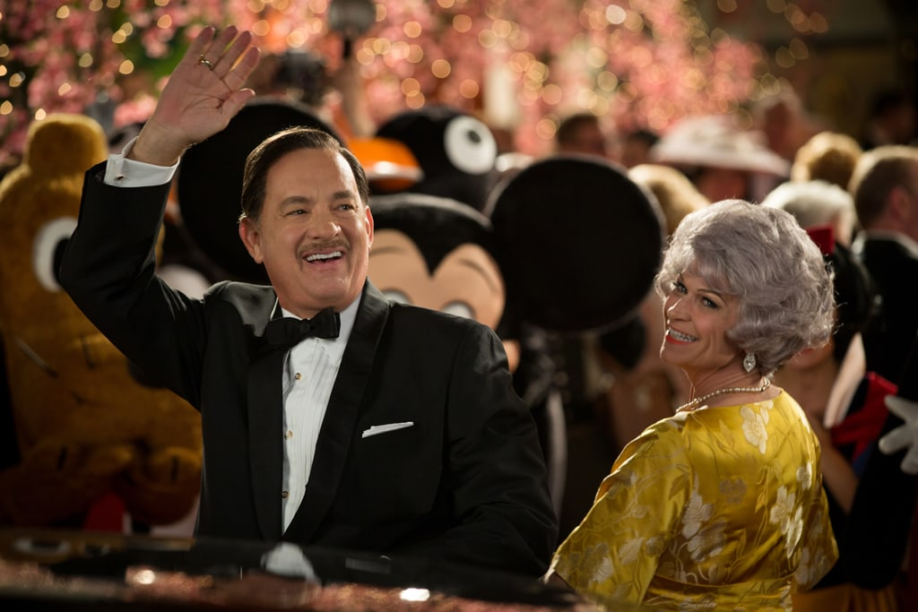 """Actors Tom Hanks (as Walt Disney) and Dendrie Taylor (as Lillian Disney) at an event in the movie """"Saving Mr. Banks""""."""