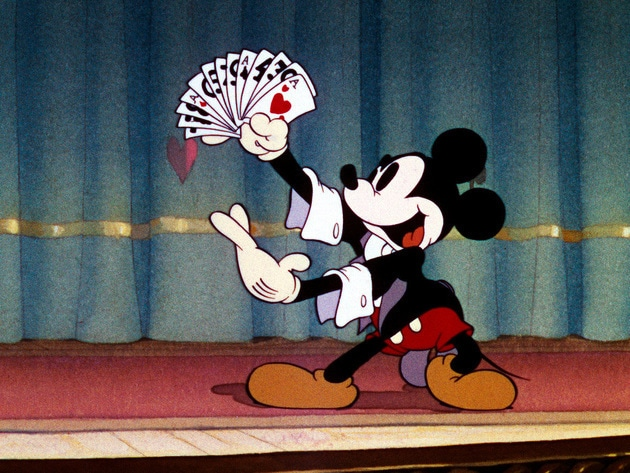 Mickey puts on a show.