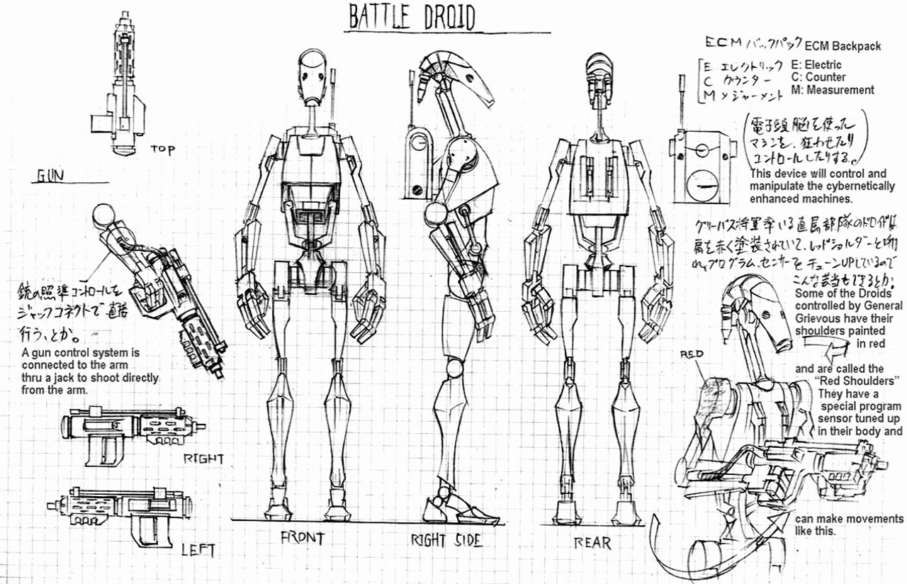 Star Wars Droid Diagrams Assassin Wire Wiring Diagram Duel Of The Droids Concept Art Gallery Starwars Com Protocol Battle Design