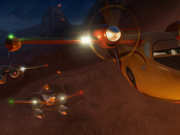 "Dusty is back in Disneytoon Studios' all new high-flying adventure ""Planes: Fire & Rescue."" Bring..."