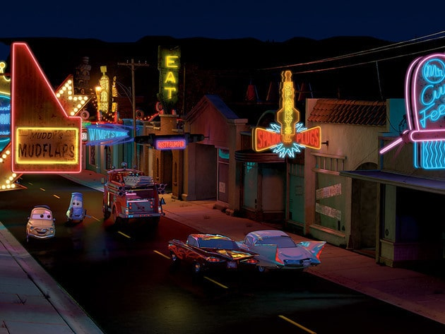 Lightning's new road inspires everyone in Radiator Springs to spruce their town up.