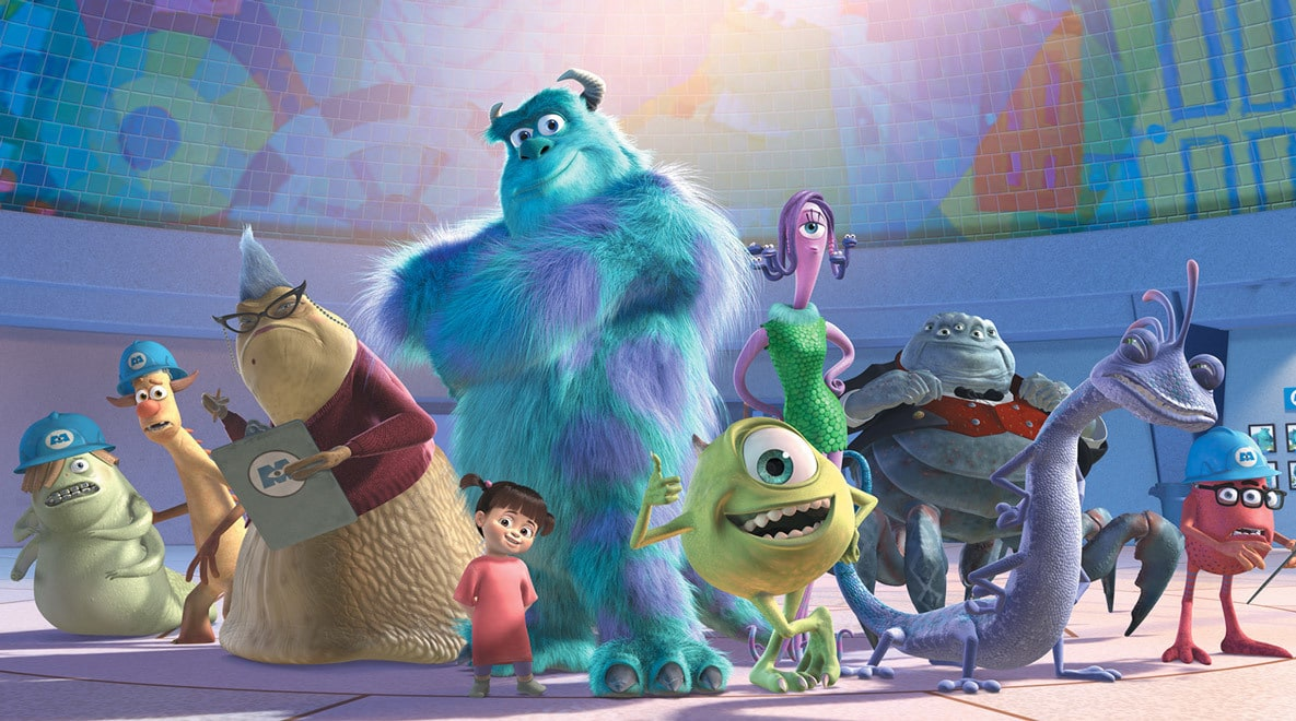 The whole Monsters, Inc. crew!
