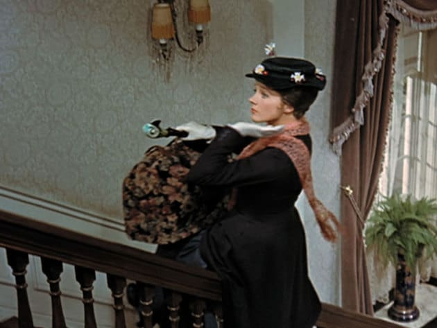 Why walk when you can slide up the banister?