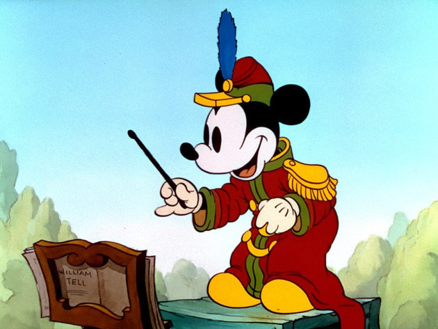 Mickey directs the players in a constantly interrupted Band Concert.