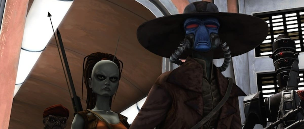 Cad Bane and Aurra Sing on Coruscant