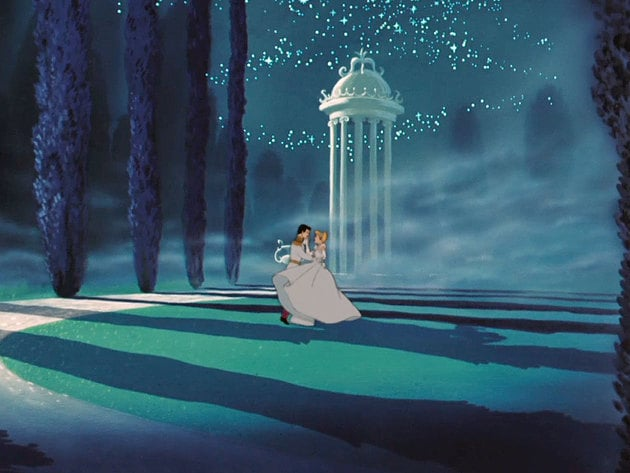 Cinderella and her Prince dance into the night.