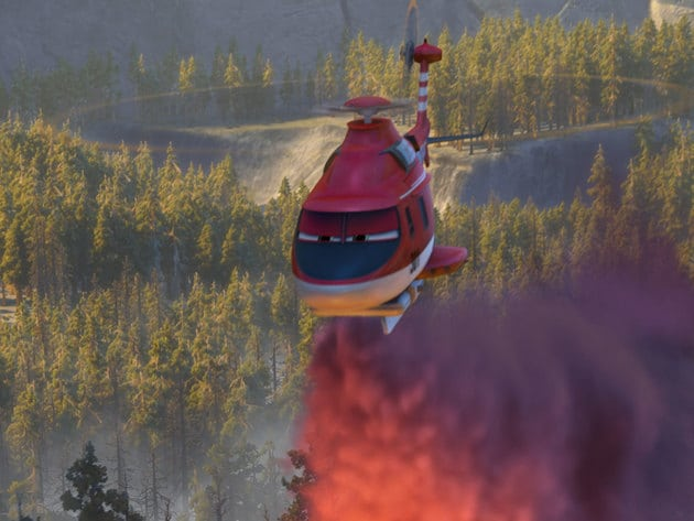 """Dusty is back in Disneytoon Studios' all new high-flying adventure """"Planes: Fire & Rescue."""" Bring..."""
