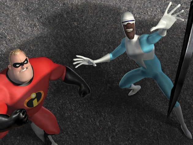 Mr. Incredible and Frozone are super pals that go way back.