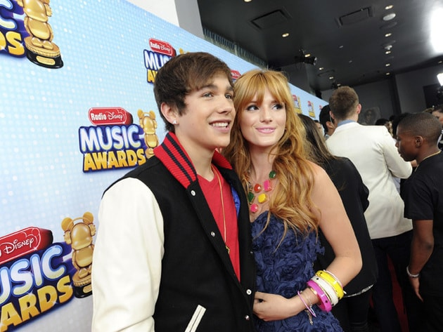 Bella Thorne and Austin Mahone - Both stars hit the RDMA 2013 red carpet in style!