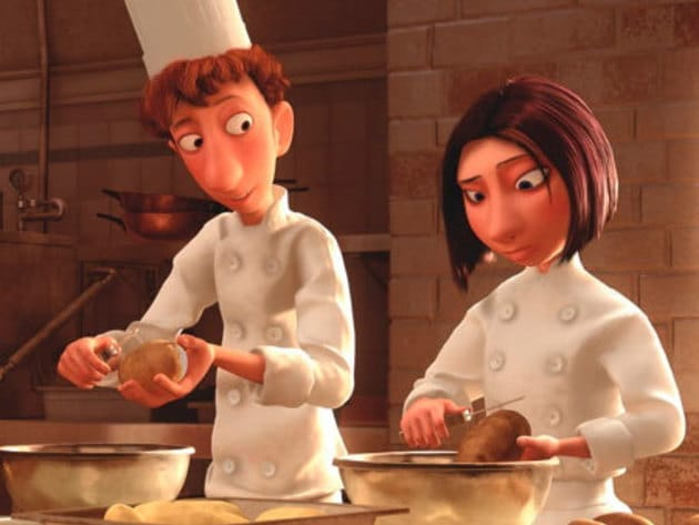 Colette is the tough-on-the-outside, soft-on-the-inside female chef in Ratatouille. Another possi...