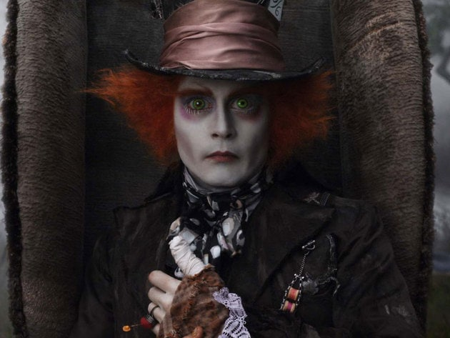 The Mad Hatter hosts Underland's maddest tea party.