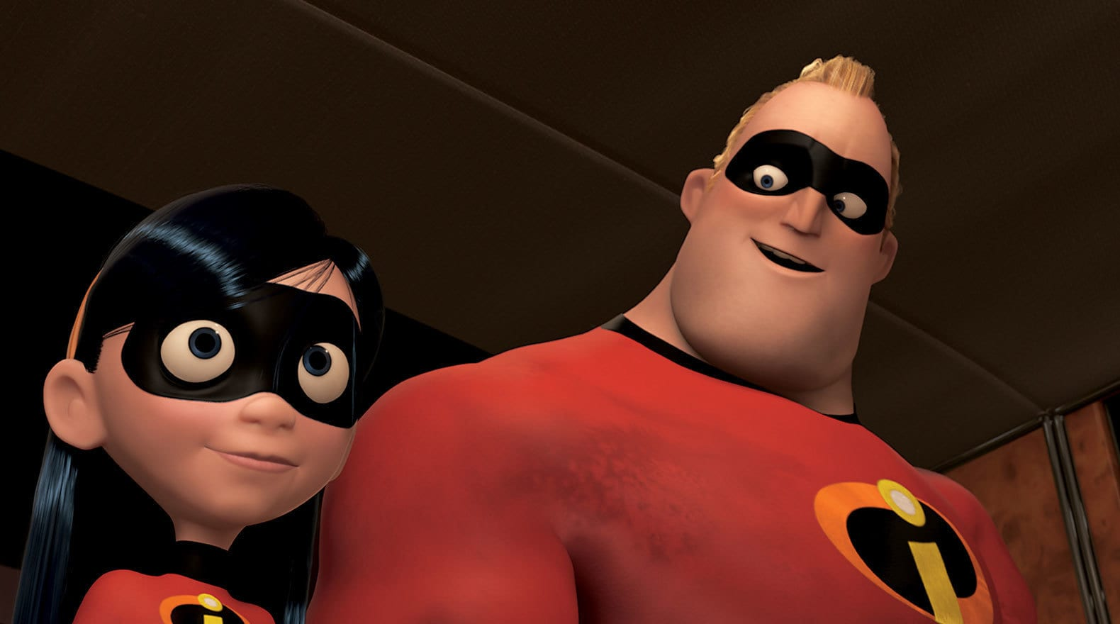 """Bob encourages Violet to try a new hairstyle in """"The Incredibles"""""""