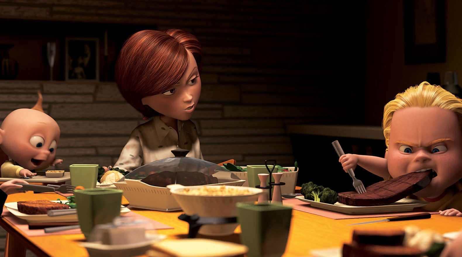 """Dash at the dinner table in """"The Incredibles"""""""