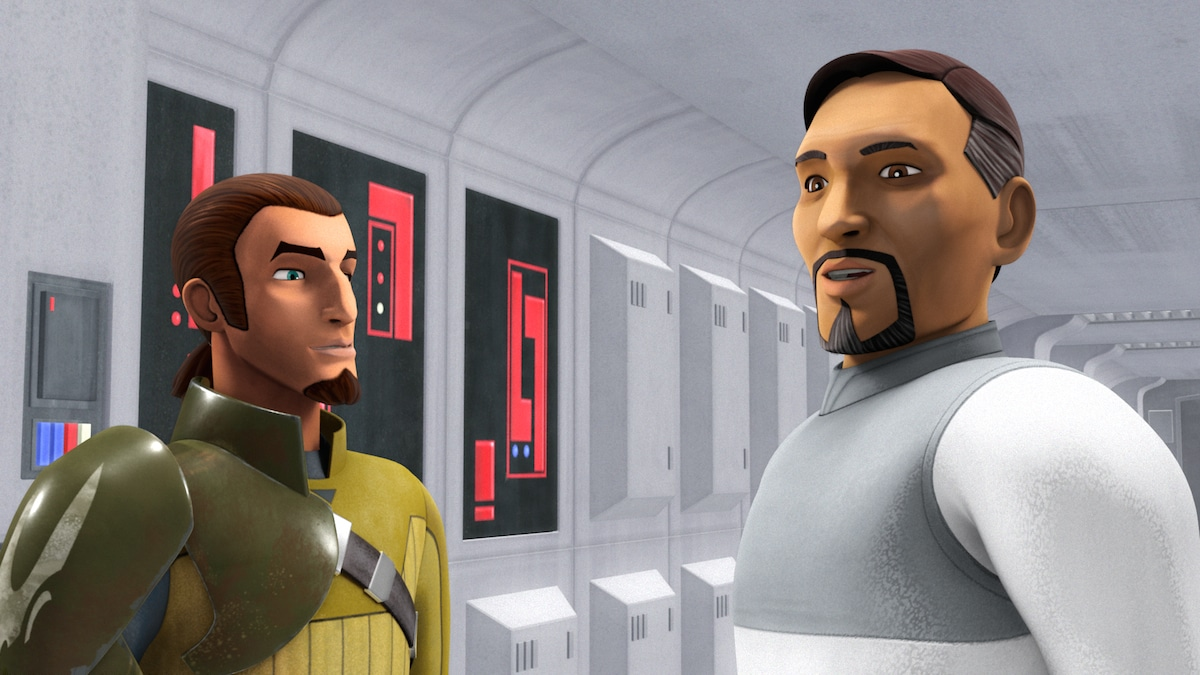 Kanan Jarrus and Bail Organa aboard the Tantive IV