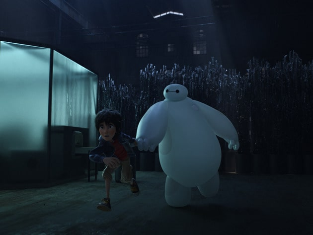 """Baymax (voiced by Scott Adsit) and Hiro (voiced by Ryan Potter) in the movie """"Big Hero 6"""""""