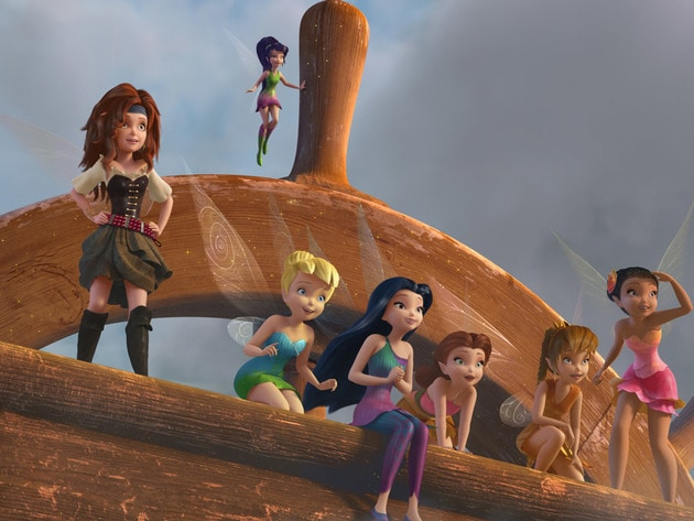 The Fairies of Pixie Hollow at the helm.