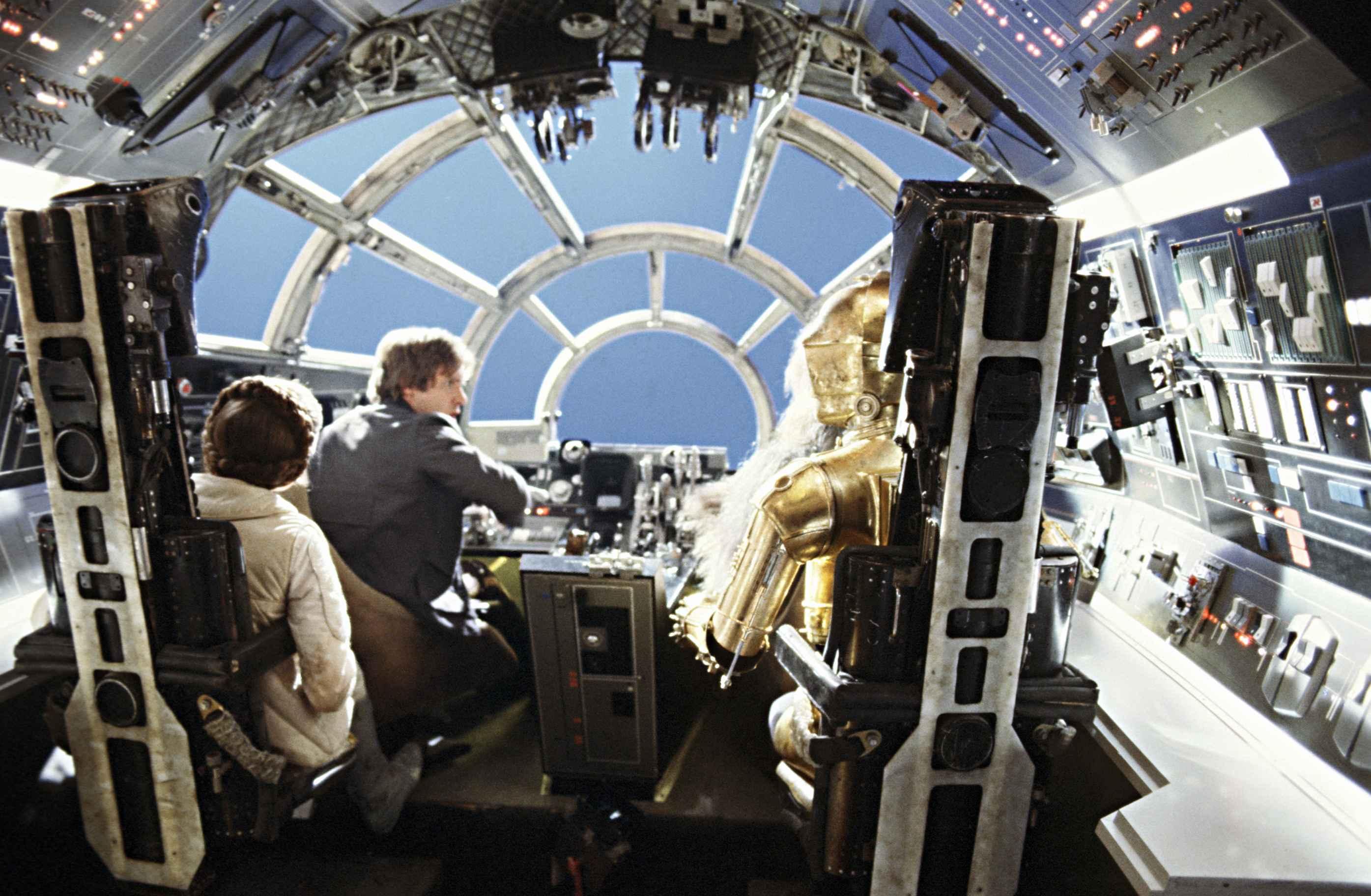 The Interior Of The Millennium Falcon Cockpit.
