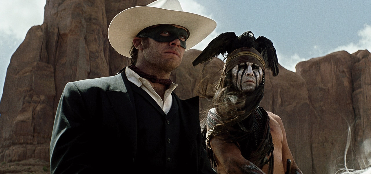 """Tonto and the Lone Ranger from the movie """"The Lone Ranger"""""""