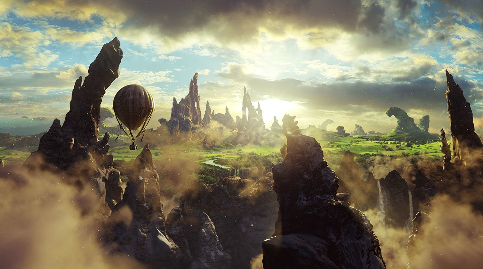 """The Land of Oz in """"Oz The Great and Powerful"""""""