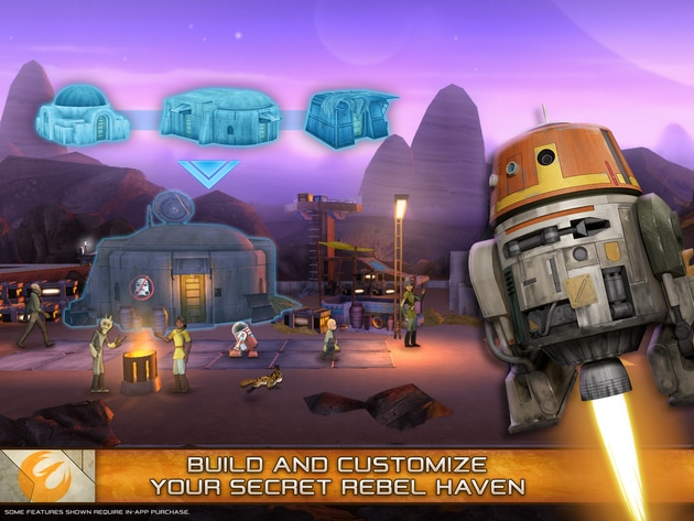 STAR WARS © & ™ Lucasfilm Ltd. All Rights Reserved.  Some features require in-app purchase.  Pare...