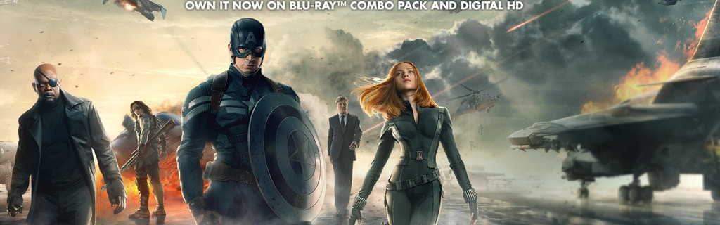 Marvel Captain America: The Winter Soldier - Own It Now on Blu-Ray Combo Pack and Digital HD