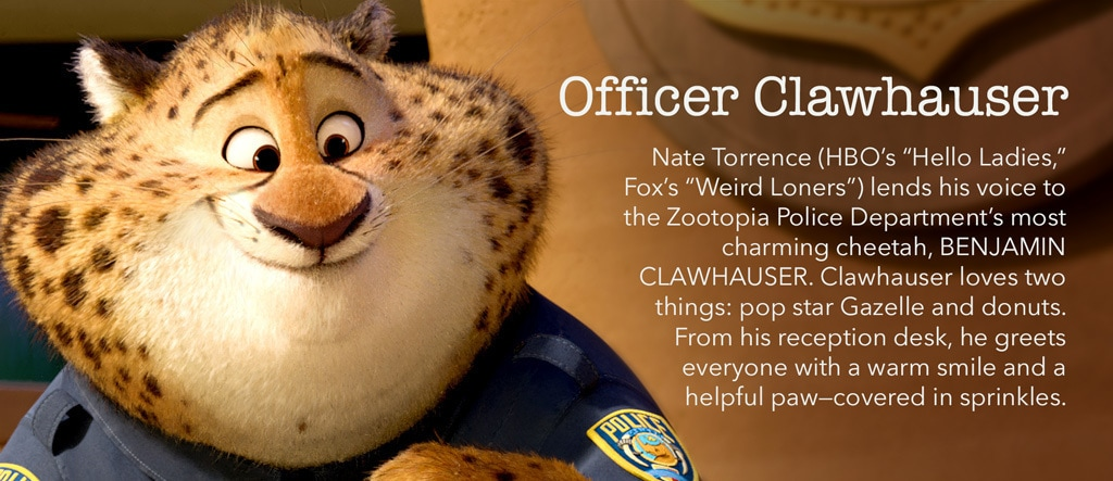 Zootopia - Officer Clawhauser Character