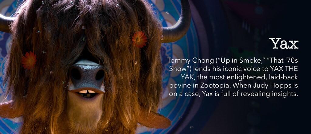 Zootopia - Yax Character