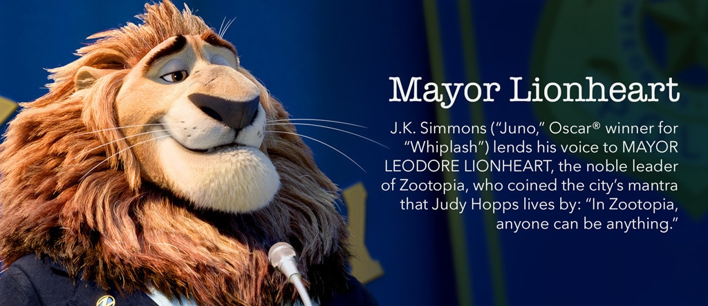 Zootopia - Mayor Lionheart Character - PH