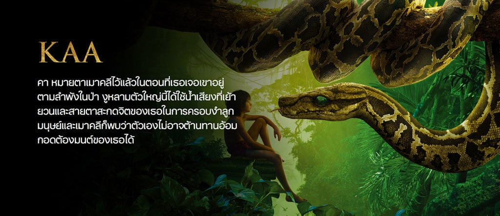 Jungle Book Characters Hero - Kaa TH