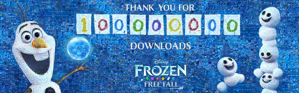 Frozen Free Fall: 100 Million Downloads Celebration Mosaic - SG
