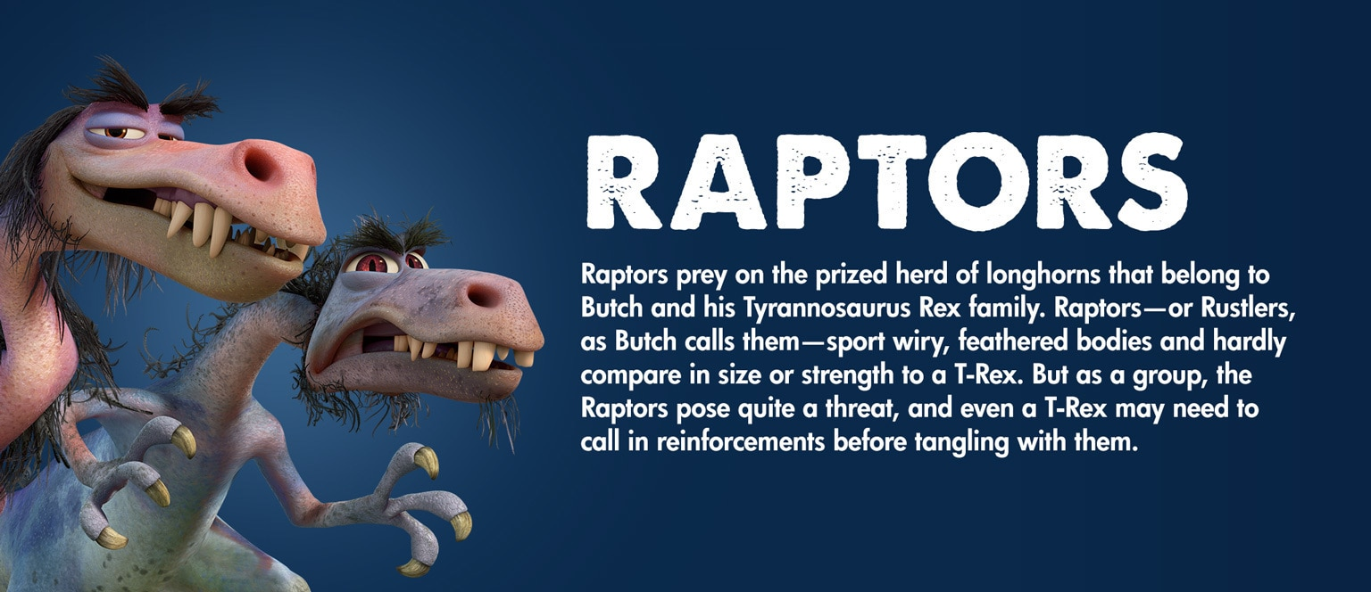 The Good Dinosaur - Character - Raptors