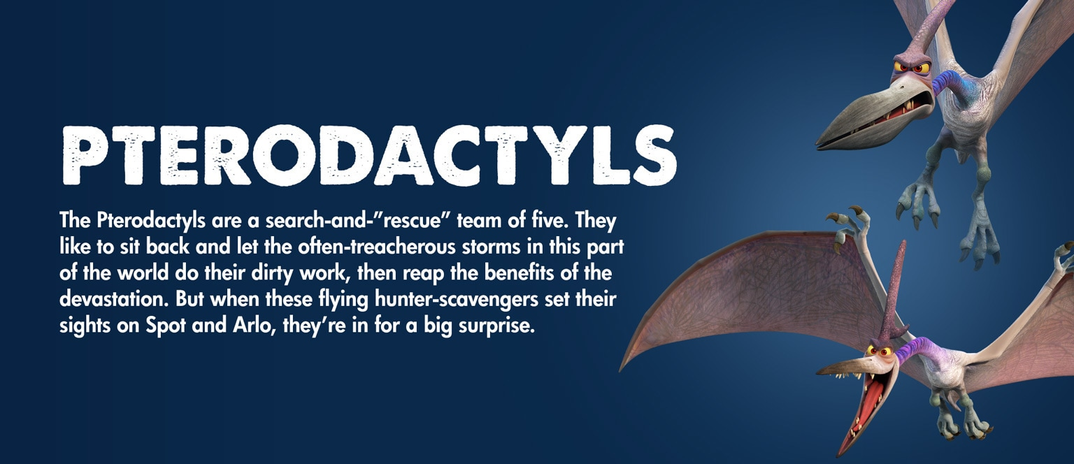 The Good Dinosaur - Character - Pterodactyls