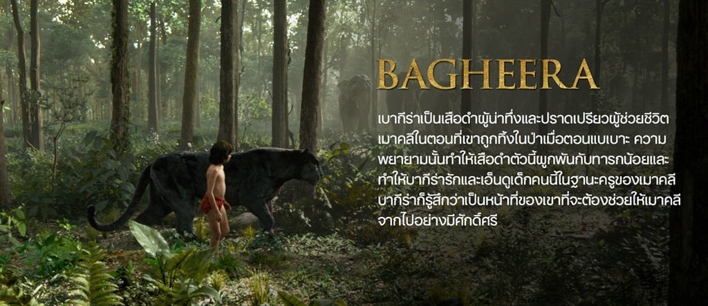Jungle Book Characters Hero - Bagheera TH