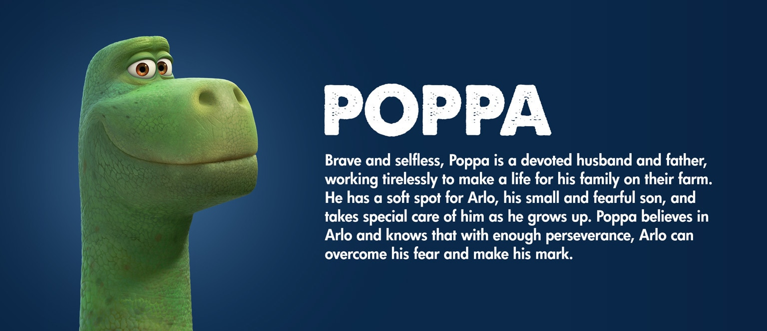 The Good Dinosaur Character Poppa - SG