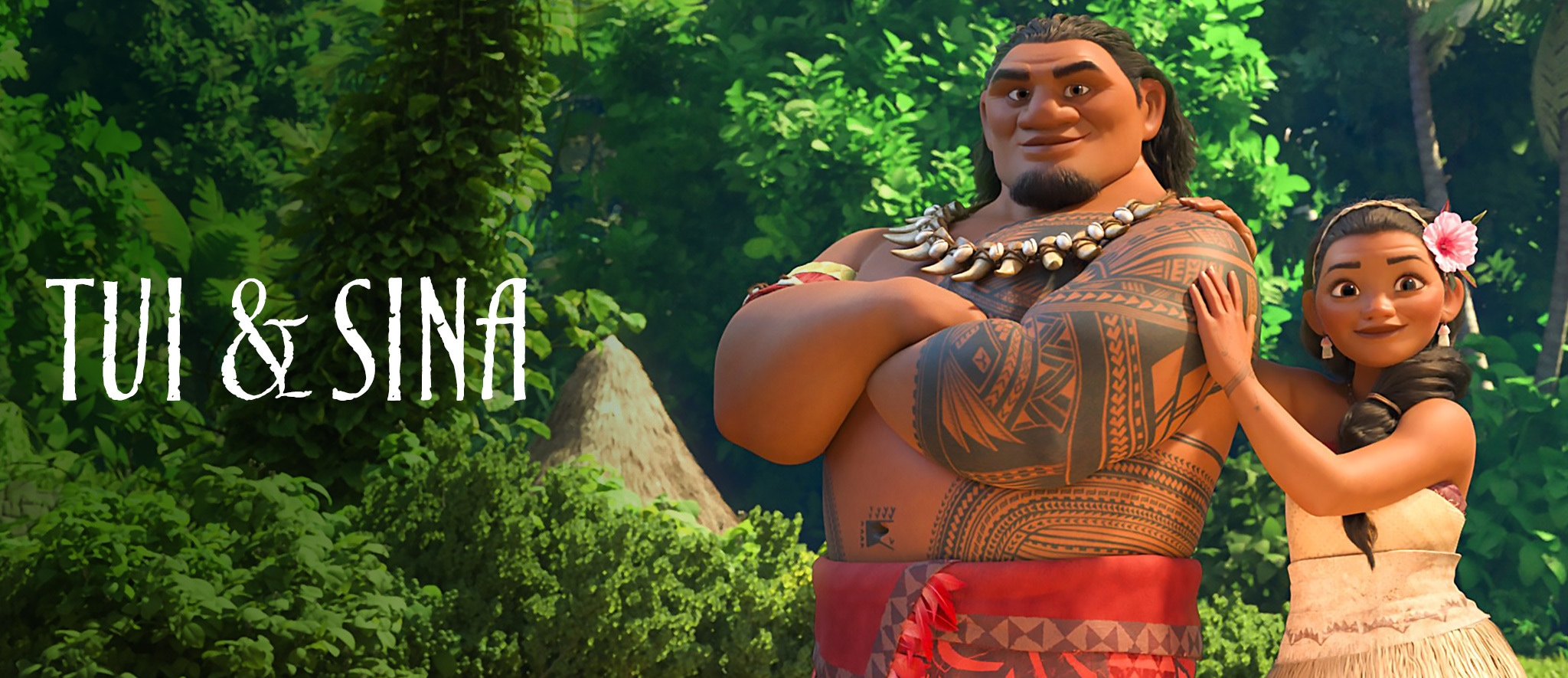 Moana's Parents Tui and Sina from Disney's Moana