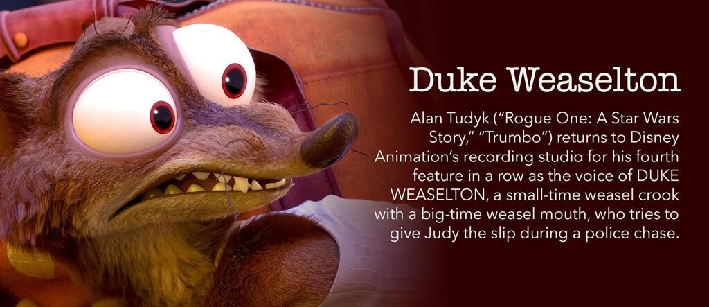 Zootopia - Duke Weaselton Character