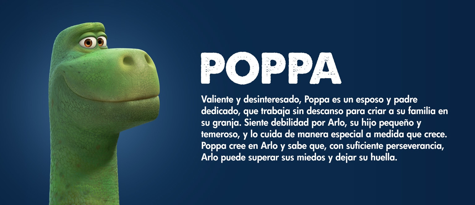 The Good Dinosaur - Character - Poppa - Aja