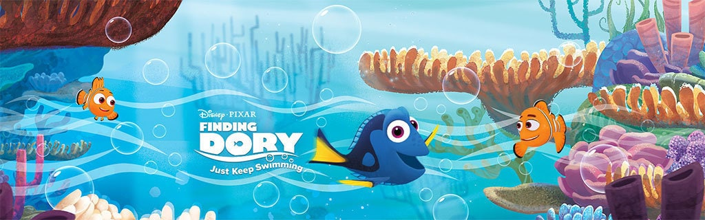 Finding Dory - Just Keep Swimming - App Page - Games - Hero