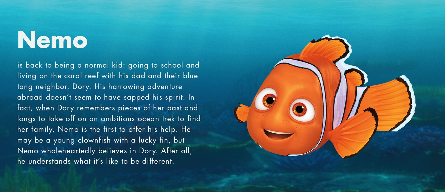 Finding dory disney movies for Finding nemo fish names