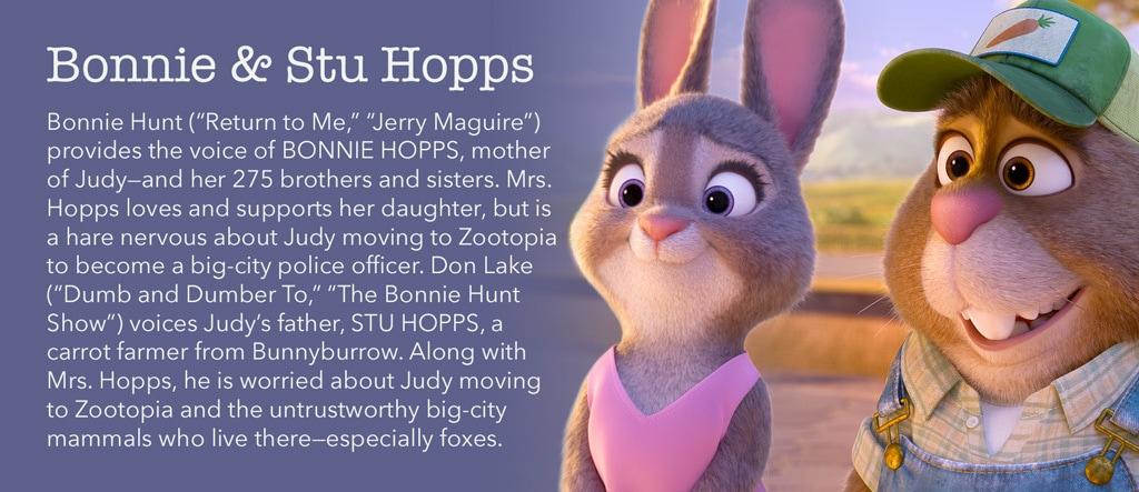 Zootopia - Bonnie & Stu Hopps Character